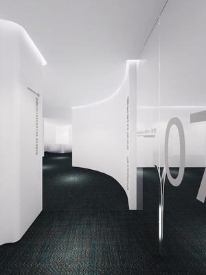现代简约风格办公室隔断设计装修图