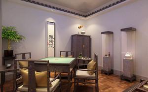 中式风格精致茶楼包厢设计装修效果图