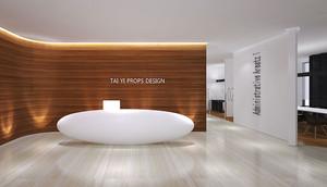 现代风格精装办公室前台设计装修效果图