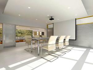 现代简约风格会议室装修效果图赏析