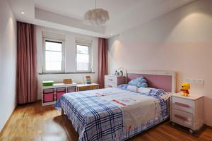 20平米现代简约风格甜美儿童房设计效果图