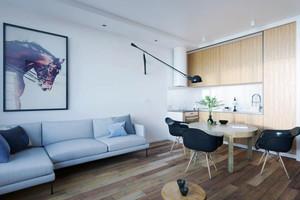51平米现代风格精装公寓装修效果图案例