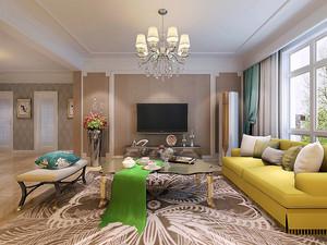 简欧风格精美两室两厅室内装修效果图鉴赏