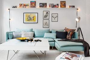 北欧风格时尚小户型客厅装修效果图赏析