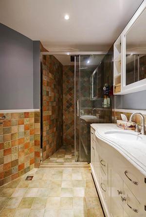 简约美式风格三室两厅室内装修效果图案例