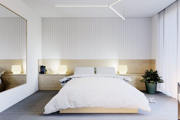 简约风格温馨时尚白色卧室装修效果图赏析