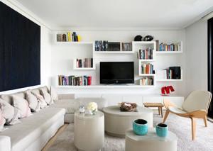 现代简约风格白色明亮客厅装修效果图赏析