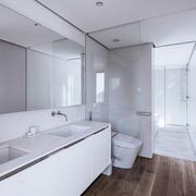 现代简约风格白色卫生间装修效果图赏析