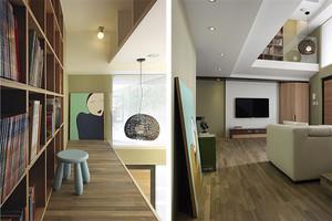 172平米新中式风格精致复式楼室内装修效果图案例