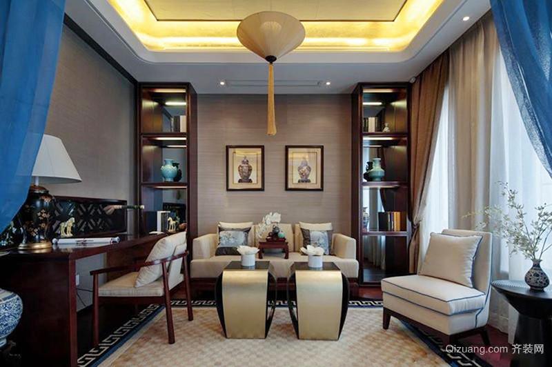 228平米中式风格古典精致别墅室内装修效果图