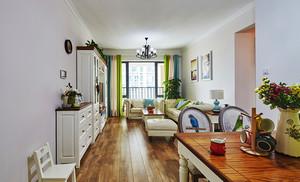 地中海风格清新时尚两室两厅两卫装修效果图案例