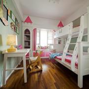欧式风格甜美双层床儿童房装修效果图鉴赏