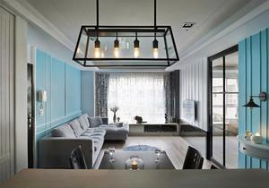 98平米简欧风格清新两室两厅室内装修效果图案例