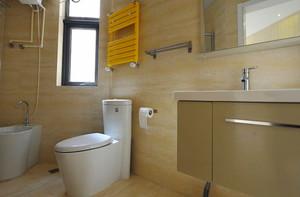 123平米现代简约风格三室两厅室内装修效果图案例