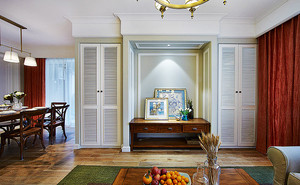 114平米美式风格简装两室两厅室内装修效果图案例