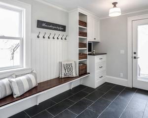 美式风格精美大户型实用玄关鞋柜设计装修效果图