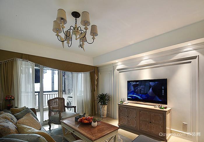 124平米欧式风格精装两室两厅室内装修效果图赏析