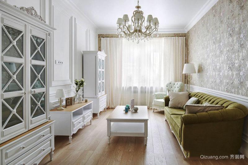 欧式风格白色精美客厅设计装修效果图赏析