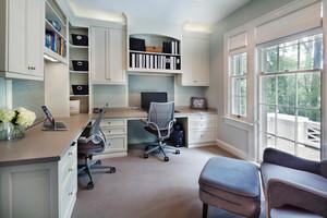 欧式风格清新精致书房设计装修效果图赏析