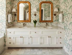 欧式风格精美卫生间浴室柜设计装修效果图