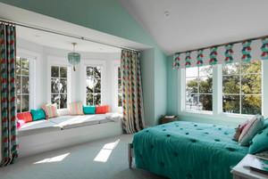 清新风格休闲舒适飘窗设计装修效果图赏析
