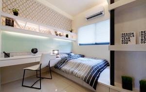 97平米现代风格精装三室两厅室内装修效果图案例