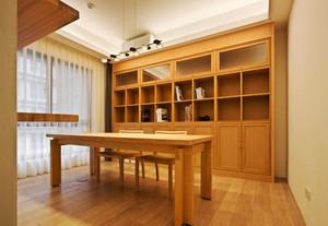 现代风格原木色书房设计装修效果图赏析