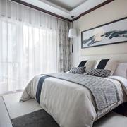 新中式风格清新淡雅卧室装修效果图