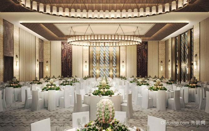 欧式风格精美华丽酒店餐厅设计装修效果图