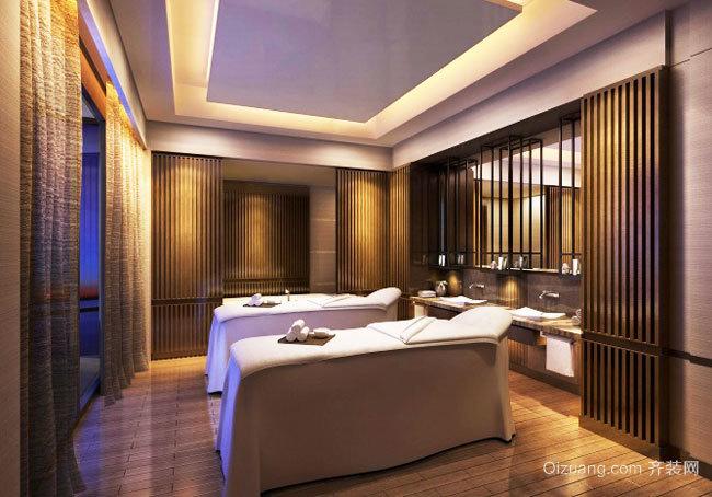 中式風格精致美容院設計裝修效果圖