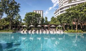 简约风格五星级酒店游泳池装修效果图