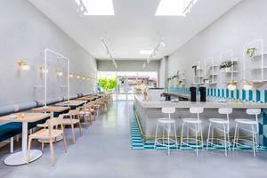 70平米清新风格文艺咖啡厅设计装修效果图