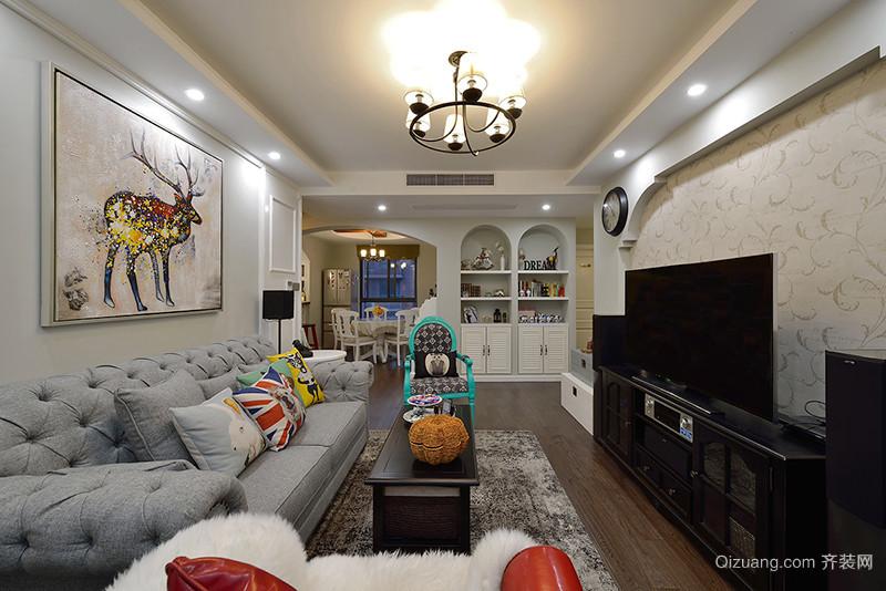 100平米地中海风格时尚混搭室内装修效果图案例