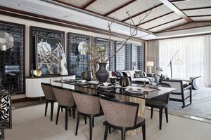 东南亚风格精致大户型餐厅设计装修效果图
