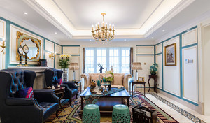 法式风格奢华浪漫大户型室内装修效果图鉴赏