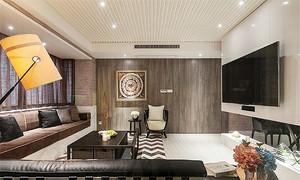 108平米后现代风格三室两厅室内装修效果图