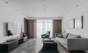 后现代风格冷色调客厅设计装修效果图赏析