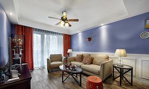 90平米混搭风格精美室内装修效果图案例
