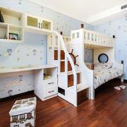 欧式风格清新双层床儿童房设计装修效果图