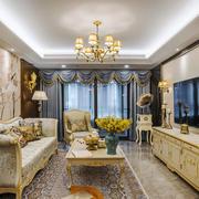 欧式风格精美温馨客厅设计装修效果图