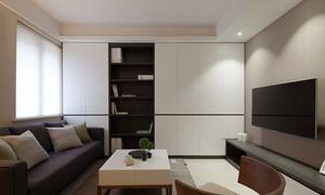 121平米现代风格精装三室两厅室内装修效果图案例