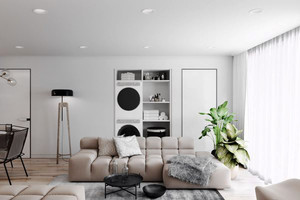 74平米现代简约风格精美两室两厅室内装修效果图