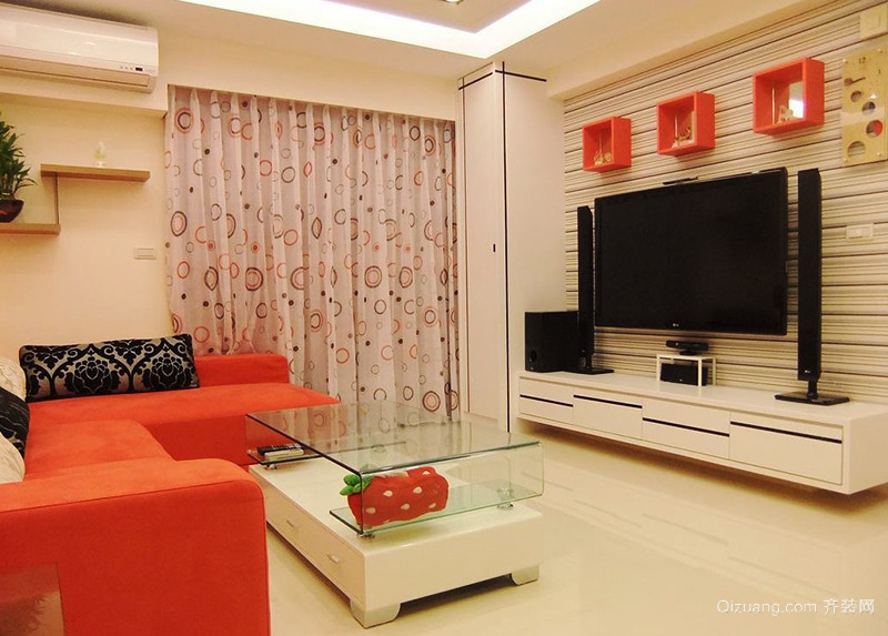 65平米现代简约风格loft室内装修效果图欣赏