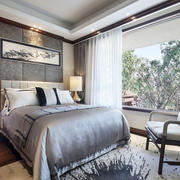 新中式风格雅致大户型卧室装修效果图鉴赏