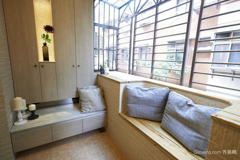 现代简约风格休闲阳台飘窗设计效果图