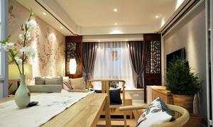 120平米中式风格古色古香室内装修效果图案例