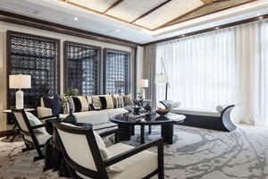 中式风格古典低调客厅设计装修效果图