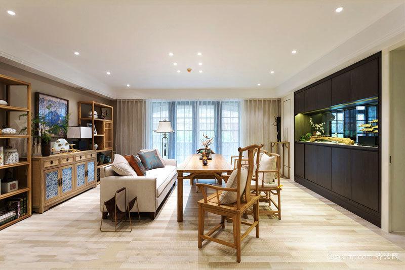 中式风格雅致客厅设计装修效果图