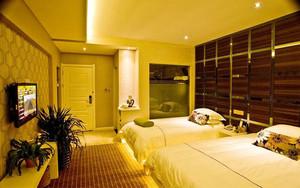 现代风格宾馆标准间装修效果图