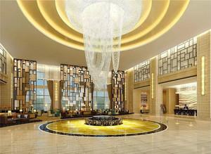欧式风格富丽堂皇酒店大堂吊顶装修效果图